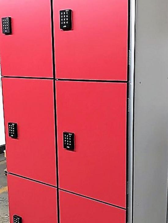 Taquillas  P3 Bloque de 2 columnas. Cerradura con código